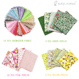 "20Pcs Different Pattern Pink and Green Series 100% Cotton Poplin Fabric Fat Quarter Bundle 18"" x 22"" Patchwork Quilting Fabric With 15pcs 20*25cm Mixed Squares Bundle Thin Cotton Fabric - Raylinedo"