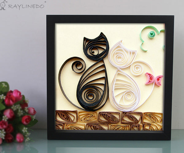 Black 3D Deep Picture Photo Frame Display Memory Box For Specimen Medals Preserved Fresh Flower Quilling Paper Work (A4) - Raylinedo