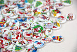 100pcs shape 2 holes Christmas Stockings polywood 15mm buttons for Sewing Scrapbooking. - Raylinedo