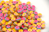 25Pcs Striped Rainbow Colors Flat Bead Buttons for Crafting Sewing DIY-12mm - Raylinedo