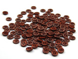 35 Pieces/pack 11.5mm Coffee Colours round Shape 4 holes Wooden Buttons - Raylinedo