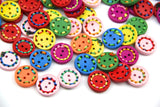 10 Pieces/pack 20mm Mixed Colours round Shape 2 holes Wooden Buttons - Raylinedo