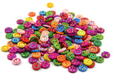 15 Pieces/pack 13mm Mixed Colours round Shape 2 holes Wooden Buttons - Raylinedo