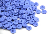 60 Lightblue Delicate Plastic Round Buttons.4 Holes,Approx:10mm,Hole size:1mm Thickness:2mm - Raylinedo