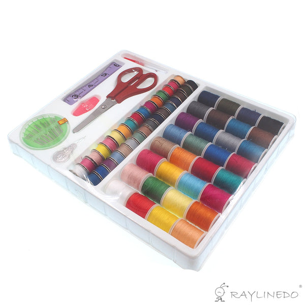 100 in 1 Needlework Box Set Sewing Tools Kit for Domestic Sewing Machine - Raylinedo