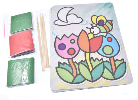 Beautiful Cartoon Cards Tridimensional Paper Stickers Stick Art Painting Set Children Handmade DIY Puzzle Paper Quilling Magic Early Education Paper Pictures Parent-Child Interaction New Art Paper Craft Toy-8PCS - Raylinedo