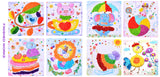 Beautiful Cartoon Cards Tridimensional Paper Stickers Stick Art Painting Set Children Handmade DIY Puzzle Paper Quilling Magic Early Education Paper Pictures Parent-Child Interaction New Art Paper Craft Toy-9PCS - Raylinedo