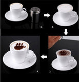 8 x Cappuccino Coffee Stencils Template Christmas Style Strew Flowers Pad Duster Spray Art - Raylinedo