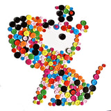 50g Buttons- Mixed Colours of Various Plain Round DIY Buttons for Sewing and Crafting - Raylinedo