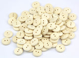 100 x Plain Wood 2 Hole Round 15mm Sew Craft Scrapbook DIY Buttons - Raylinedo