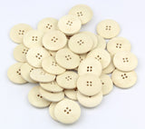 20 x Plain Wood 4 Hole Round 30mm Sew Craft Scrapbook DIY Buttons - Raylinedo