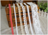 20 Meters Assorted Vintage Style Cotton Lace Ribbon Trim Bridal Wedding Scalloped Edge Crochet Lace DIY Sewing Accessory Collection A - Raylinedo