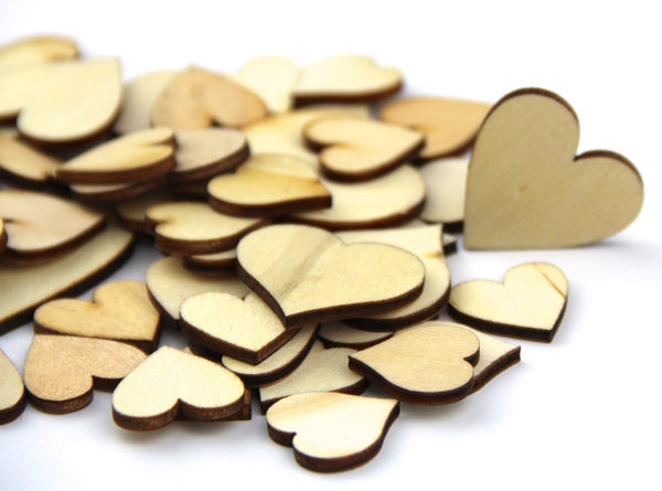 Mixed Size Pure Color Big Heart Shaped Wooden Buttons Crafting Sewing DIY Approx 50 PCS - Raylinedo