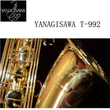 2017 YANAGISAWA T-902 Saxophone Tenor Support Professional Gilding Plated and Lacquer Gold Tenor Saxophone Sax with Case - Raylinedo