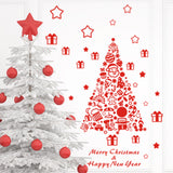 Merry Christmas Red Color Wall Sticker Wall Decoration Wall Art Designed Xmas11 - Raylinedo