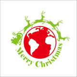 Merry Christmas Red&Green Color Wall Sticker Wall Decoration Wall Art Designed Xmas12 - Raylinedo