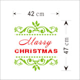 Merry Christmas Red&Green Color Wall Sticker Wall Decoration Wall Art Designed Xmas14 - Raylinedo
