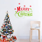 Merry Christmas Red&Green Color Wall Sticker Wall Decoration Wall Art Designed Xmas17 - Raylinedo