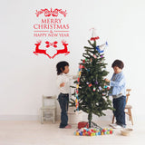 Merry Christmas Red Color Wall Sticker Wall Decoration Wall Art Designed Xmas20 - Raylinedo