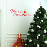 Merry Christmas Red&Green Color Wall Sticker Wall Decoration Wall Art Designed Xmas22 - Raylinedo