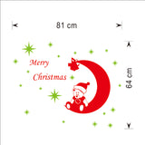 Merry Christmas Red&Green Color Wall Sticker Wall Decoration Wall Art Designed Xmas28 - Raylinedo