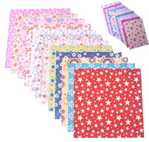144 Sheets Craft Folding Origami Paper Washi Folding Paper 15CM*15CM with Different Colors and Patterns A - Raylinedo