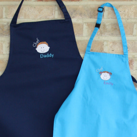 'Mummy or Daddy and Me' Apron Set