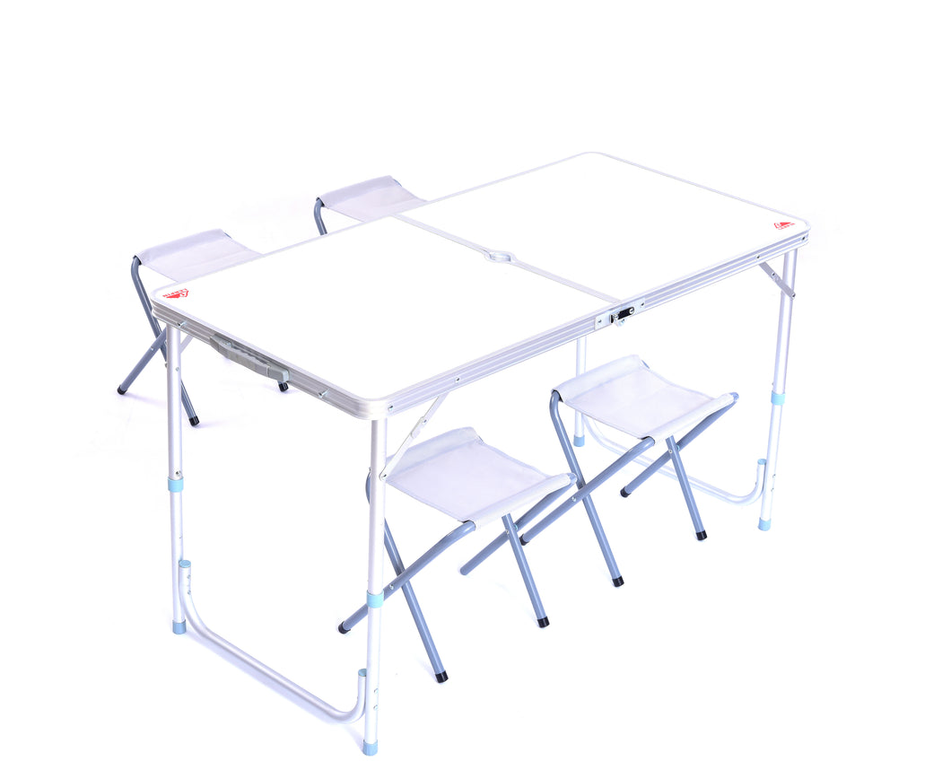 Aluminum Folding Table with 4 Stools
