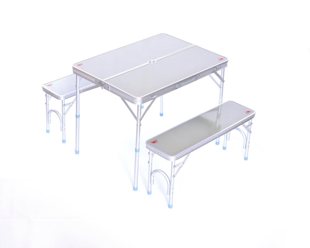 Aluminum Folding Table with Benches