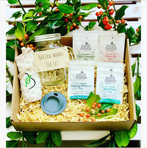 Natural mama boxes Natural Mama Tea Gift Box Set of Organic Herbal tea.  Holiday Tea Set