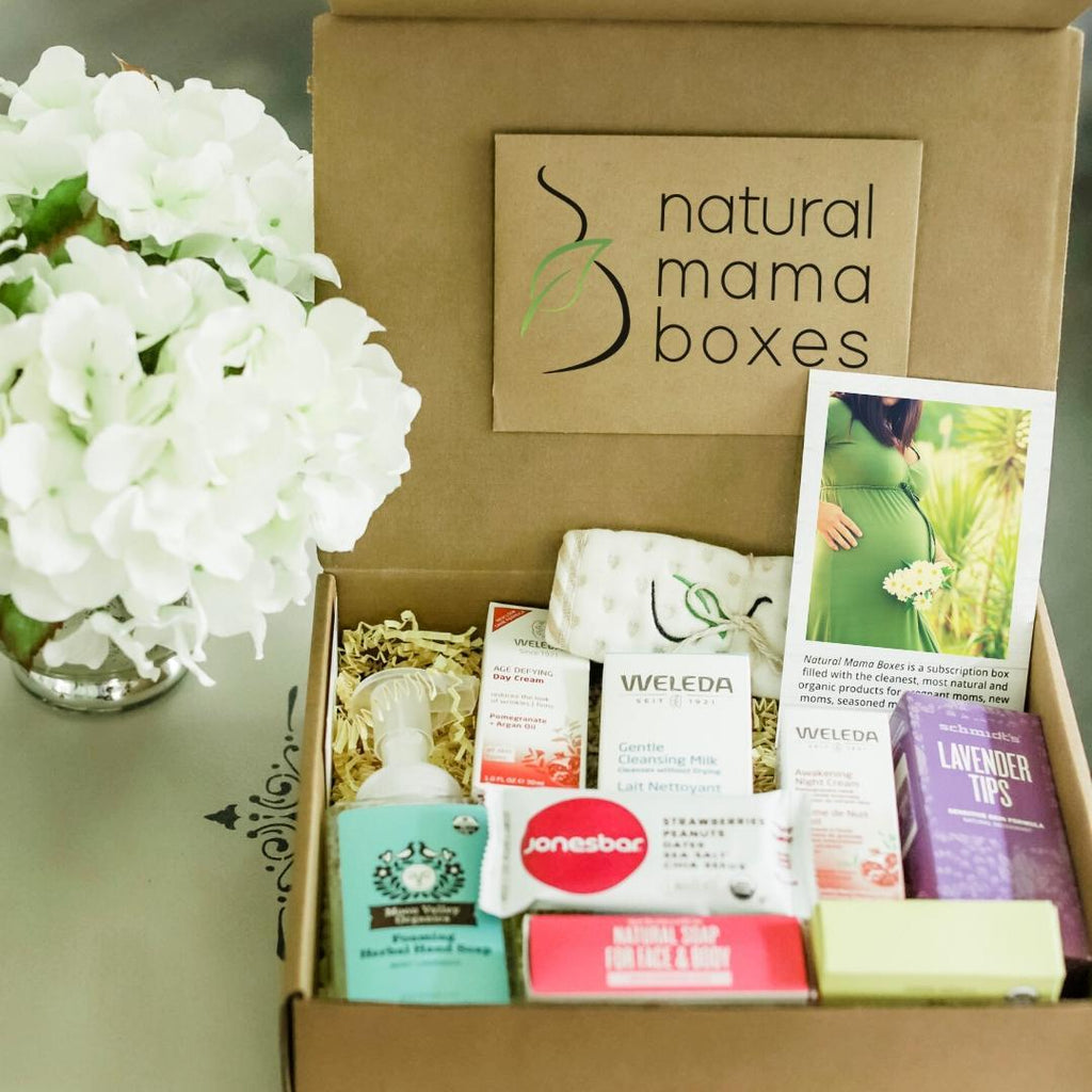 Natural Mama Makeover box all natural product pregnancy box for new moms great gift for a baby shower