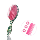 Jumbo Detangle & Smooth Hair Brush-Green Tropical