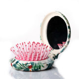 Mini Mirror Folding Brush-Green Tropical