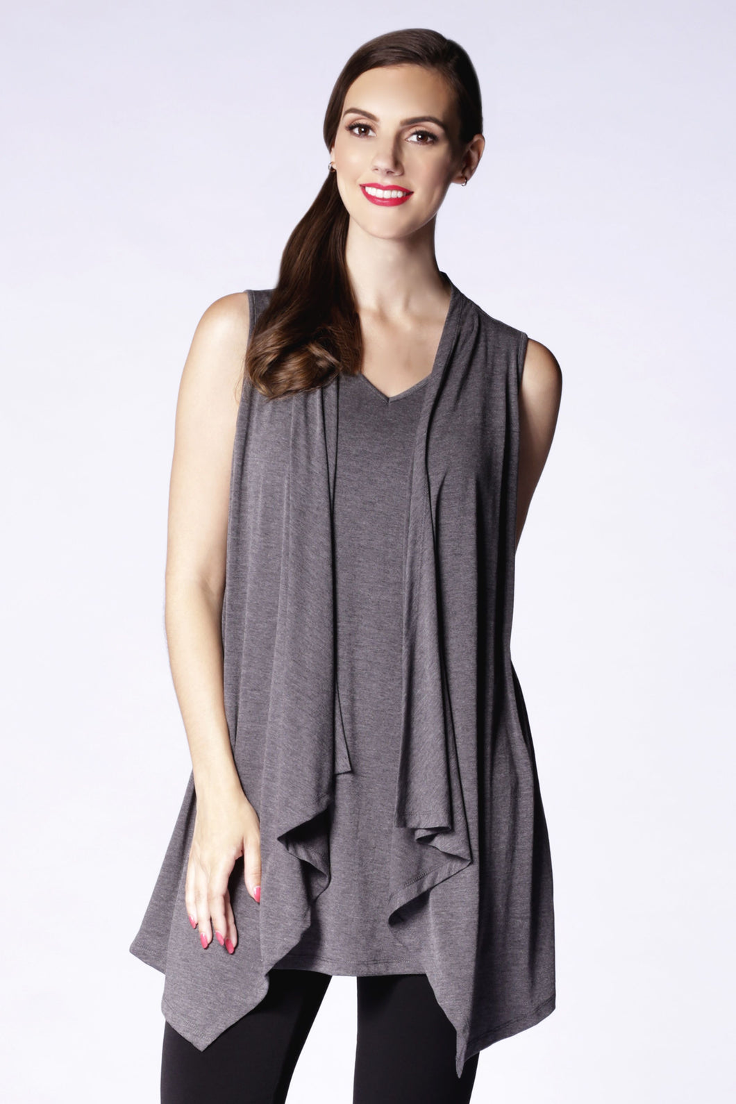 Asymmetric Cascade Top in Grey