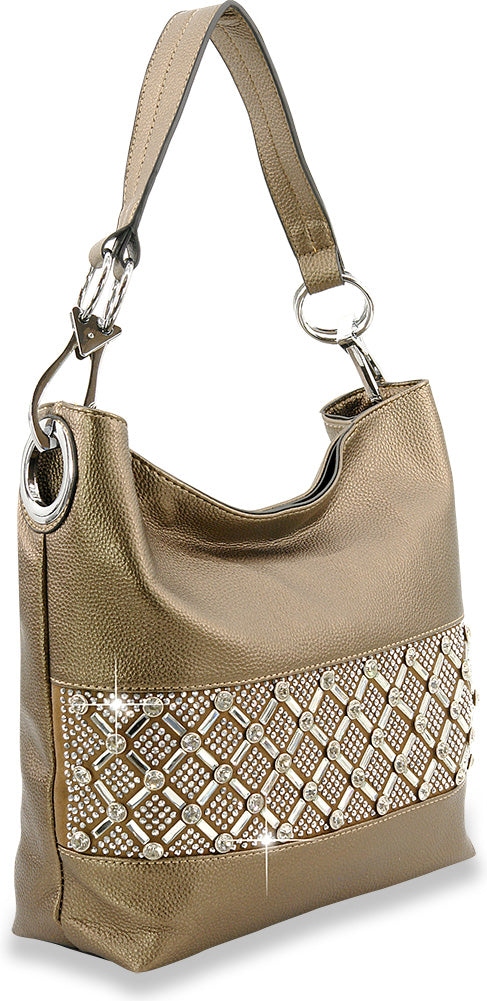 Bronze Bling Design Hobo Purse