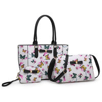 Black/White with Small Butterflies Purse & Pouch FW - Purse & Pouch Only