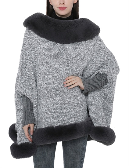 Grey Faux Fur with armholes