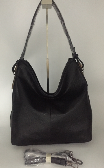 Black ALP purse with long strap