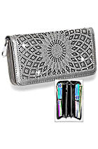 Light pewter web bling wallet