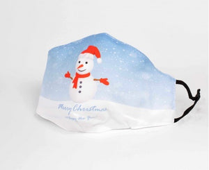 Christmas snowman 3 layer adult cotton mask