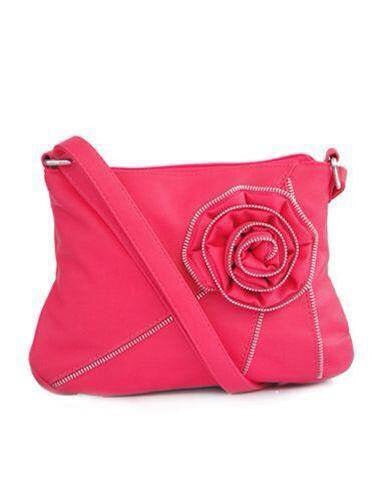 Pink Zipper Flower Messenger