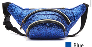 Blue BH glitter fanny pack