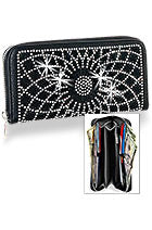 Black web bling wallet