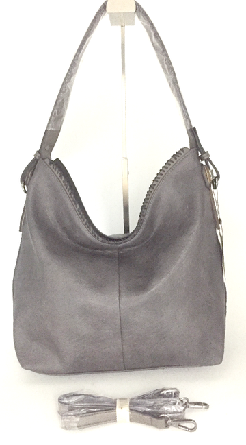 Grey ALP purse with long strap