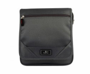 Grey fabric messenger