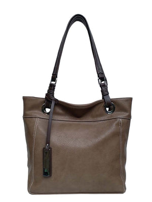 Oak large pass tote with brown tag