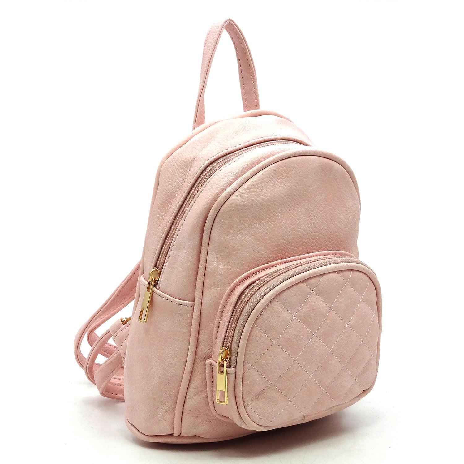 Pink FW backpack with stitching