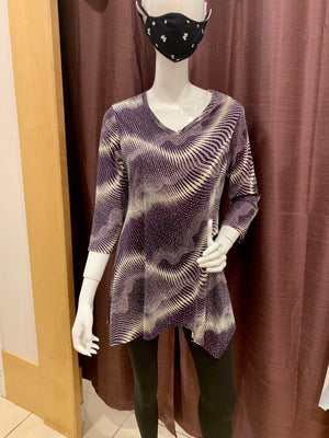 Purple striped top A21601