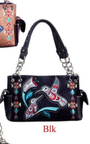 Black bird purse