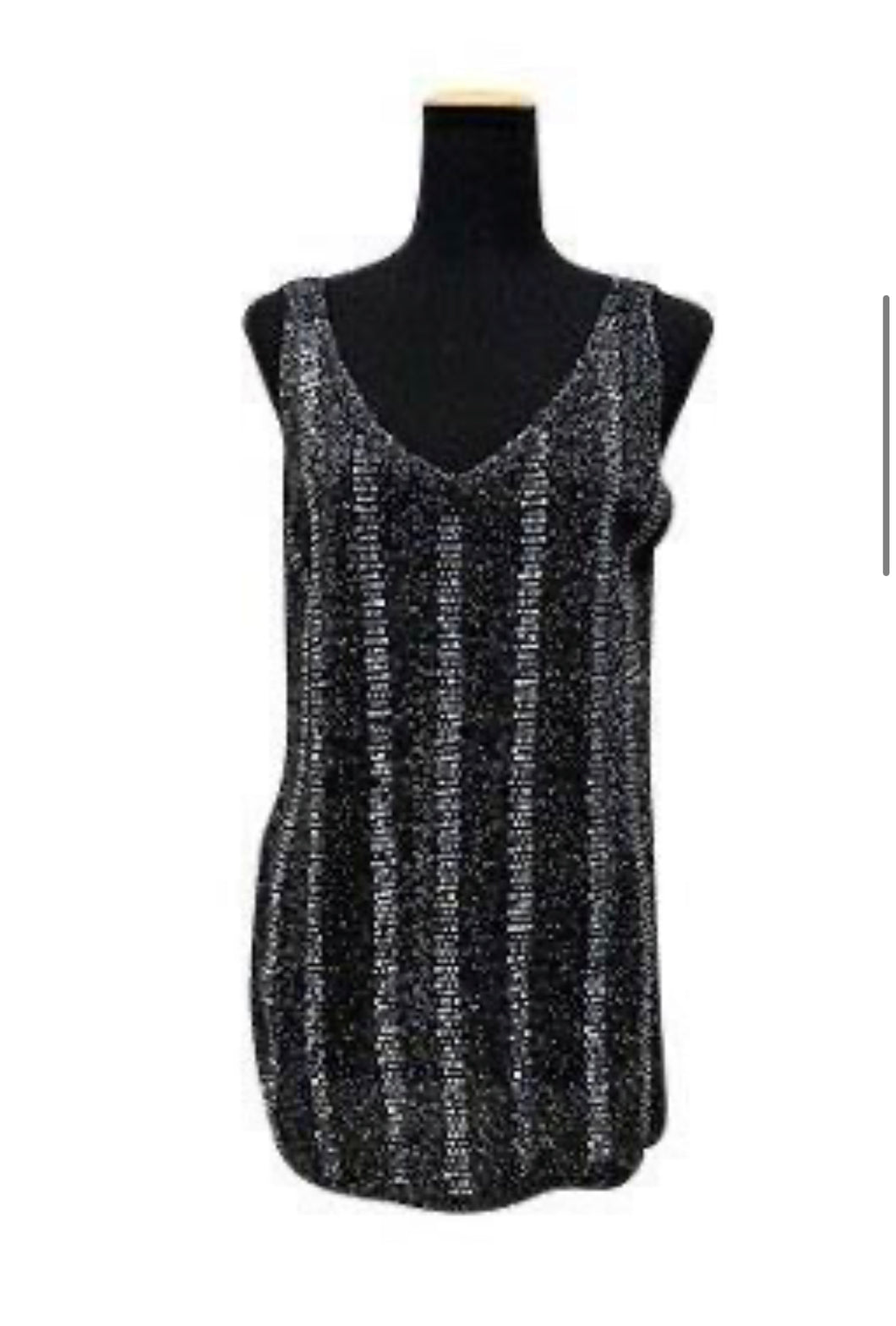 Black Bling Tank Stripes